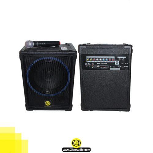اکو همراه به همراه میکروفون بیسیم زیکو مدل Z112 - تجهیزات صوتی زیکو